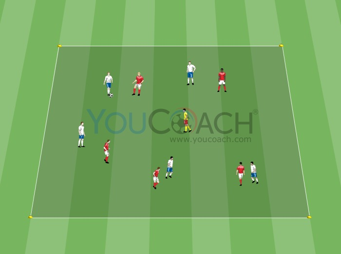 Man marking with a playmaker