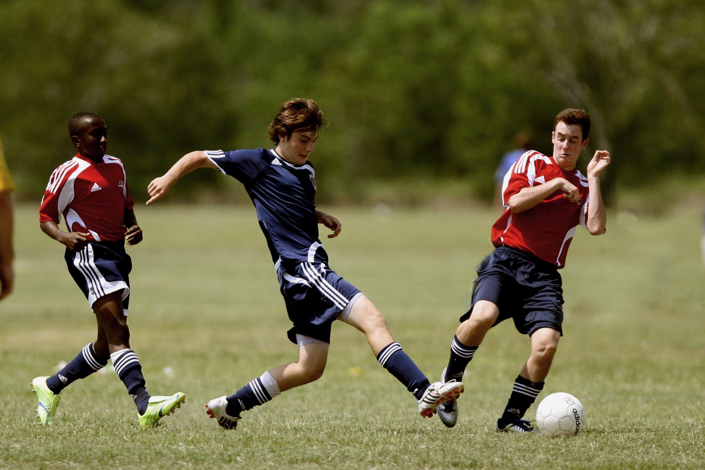 Partita di calcio giocatori