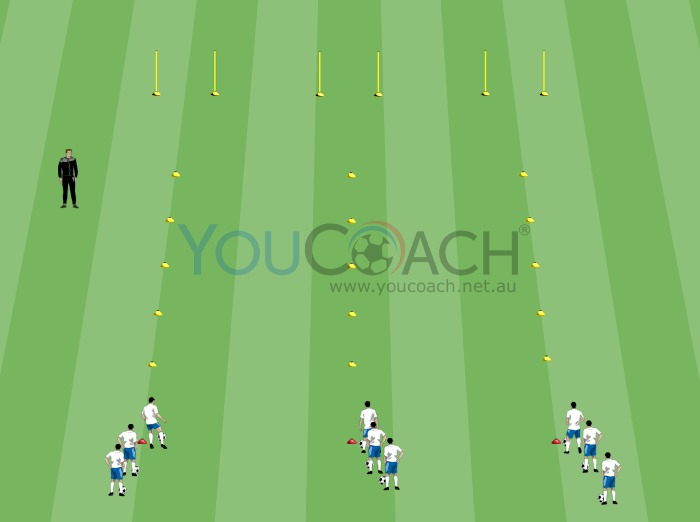 Speed dribbling competition and ball...