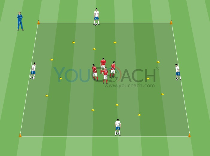 Technical warm up - Pass and oriented control