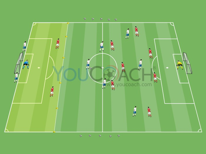 To regain possession of the ball and counter attack